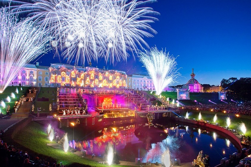 Autumn Festival of Fountains at Peterhof